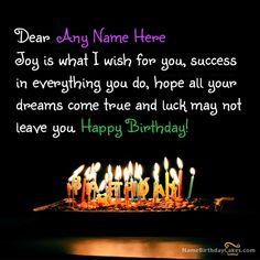 Write name on Lovely Birthday Wish - Happy Birthday Wishes