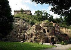 Sherwood Sandstones under Nottingham Castle,  the Caves of Medieval Sherwood Forest