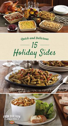 15 Quick and Delicious Holiday Sides - Make your holiday meal unforgettable. Surround your turkey with standout sides like Bacon and Brown Sugar Green Beans and Cheddar Corn Casserole. With so many sides to choose from, there's a delicious dish for everyone at your Thanksgiving, Christmas and Easter dinners.