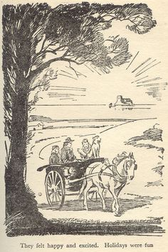 'Five Go Adventuring Again' by Enid Blyton, illustrated by Eileen A. Vintage Children's Books, Vintage World Maps, Enid Blyton Books, Classic Literature, Classic Books, Children's Book Illustration, Book Illustrations, The Book Thief, Black And White Drawing
