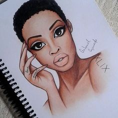 Good morning - I wish you a beautiful day! Embrace your TWA! Please feel free to tag (Bottle Sketch Drawings) Black Girl Art, Black Women Art, Art Girl, Black Girls, African American Art, African Art, Natural Hair Art, Natural Hair Styles, Tableau Pop Art