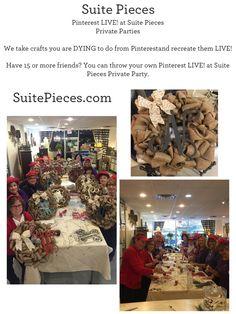 Pinterest LIVE! at Suite Pieces-Private Parties | Suite Pieces  SuitePieces.com