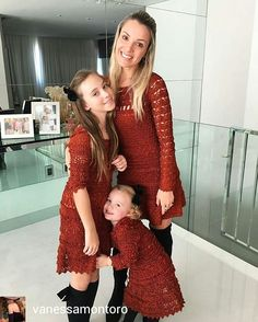 """Photo from album """"Vanessa Montoro"""" on Yandex. Vanessa Montoro, Crochet Bikini, Crochet Top, Crochet Baby Jacket, Crochet Shrug Pattern, Mother Daughter Outfits, Crochet For Boys, Crochet Woman, Family Outfits"""