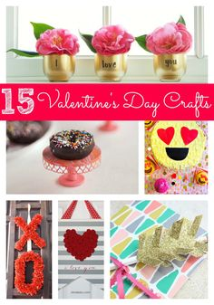 15 Creative Valentine's Day DIY Projects - Pretty My Party #valentine #crafts #DIY #valentinesday #projects #holiday