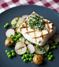 Greg Denton's halibut with mint chimichurri would be a welcome addition to any spring grilling get-together. Grilled Halibut Recipes, Grilled Fish, Argentine Recipes, Mint Sauce, Fire Cooking, International Recipes, Seafood Recipes, Food Inspiration, Healthy Eating