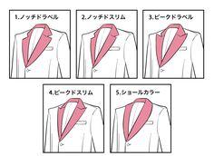 スーツの襟の種類