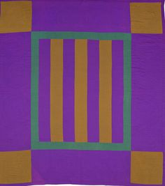 Bars, c.  1920.  Lancaster Co., Pennsylvania.  Wool, cotton, 84 x 76.  IFAF Collection