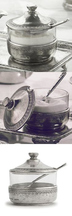Cream and Sugar 103434: Arte Italica Anna Caffe Sugar Bowl With Lid -> BUY IT NOW ONLY: $122.99 on eBay!
