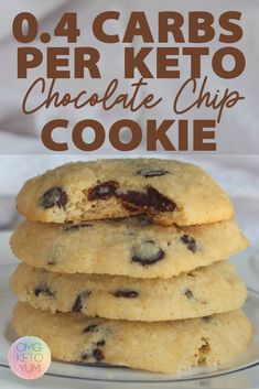 These keto cookies are soft and chewy and low carb. These cookies are carbs per cookie! Make some Keto Chocolate Chip Cookies for your low carb family because they deserve keto cookies! Keto Cookies, Keto Chocolate Chip Cookies, Cookies Soft, Mint Chocolate, Chocolate Desserts, Keto Friendly Desserts, Low Carb Desserts, Low Carb Recipes, Dessert Recipes