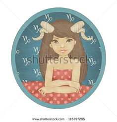 Zodiac signs collection. Capricorn