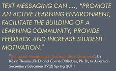 Embracing the Cell Phone in the Classroom With Text Messaging Assignments Teaching Technology, Teaching Science, Educational Technology, Student Learning, Learning Activities, Teaching Resources, Teaching Ideas, Cell Phones In School, Cell Phone Service