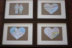 1st Anniversary DIY Map Gift Tutorial :  wedding bakerella diy first anniversary newlywed present Anniversary Map when-we-dance
