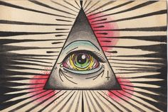 Egyptian Third Eye symbol, used by the illuminati supporters of the new world order