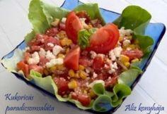 Kukoricás paradicsomsaláta Cobb Salad, Feta, Tacos, Mexican, Ethnic Recipes, Mexicans