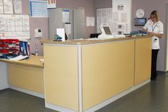 Nurses workstation and desk in Manchester Hope Hospital