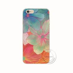 Apple iPhone 5 5S SE 5C 6 6S 7 Plus 6SPlus Back Case Cover Printing Mandala Flower Datura Floral Cell Phone Cases