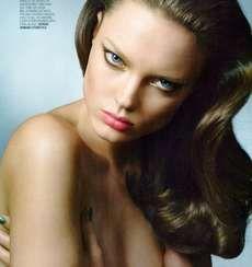 Marie Claire Italia May 2010 Features the Feline-Like Naty Chabanenko #makeup trendhunter.com