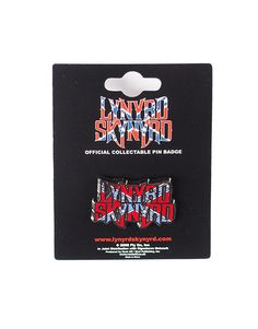LYNYRD SKYNYRD – OFFICIAL FLAG LOGO PIN  Size: Width 3 cm  Free Shipping to anywhere in Australia.