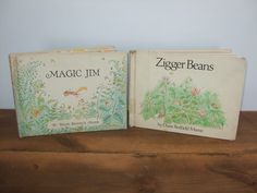 Diane Redfield Massie Book Set - Magic Jim & Zigger Beans by jessamyjay on Etsy #hardtofind #outofprint #vintagekidsbook