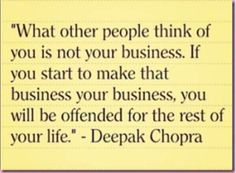Don't be offended for the rest of your life..