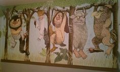 """Amazing """"Where the Wild Things Are"""" painted room with instructions and progression pics."""