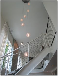 chandelier & stairs