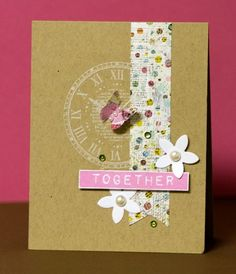 From Scrapbook & Cards today by Shari Carroll, a designer for Hero Arts Rubber Stamps