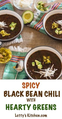 ... black bean chili. Perfectly spiced with chipotle and mild green chiles