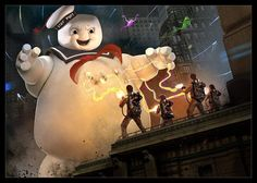 ghostbusters vs staypuft Original Ghostbusters, Ghostbusters Movie, Extreme Ghostbusters, Halloween Poster, Ghost Busters, Batman Vs Superman, Love Movie, Movie Tv, About Time Movie