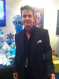 Joey Mcintyre of New Kids On The Blocks at Kiss FM's 2010 Jingle Ball! {Dessert table signs designed by Posh Pixels Design Studio LLC}
