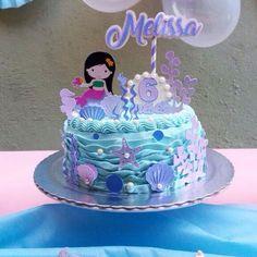 Birthday Sheet Cakes, Birthday Cake Girls, Birthday Parties, Little Mermaid Cakes, Little Mermaid Birthday, Bolo Frozen, Sirenita Cake, Paper Cake, Easter Chocolate