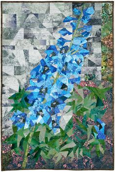 Delphinium « Ann Harwell, Fabric Artist