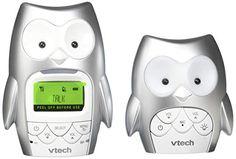 VTech DM225 Owl Audio Baby Monitor with up to 1,000 ft of Range, Vibrating Sound-Alert, Talk-Back Intercom, Digitized Transmission