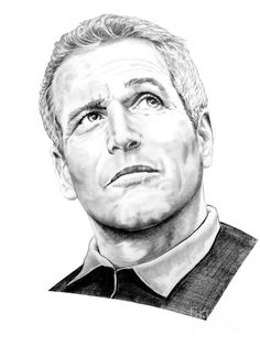 Pencil Portrait Mastery - Paul Newman by Murphy Elliott ~ traditional pencil art - Discover The Secrets Of Drawing Realistic Pencil Portraits Cool Pencil Drawings, Realistic Drawings, Pencil Art, Art Drawings, Fashion Illustration Face, Star Illustration, Celebrity Caricatures, Celebrity Drawings, Celebrity Portraits