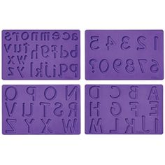 Spell it out sweetly on cakes or other desserts using fondant or gum paste letters and numbers. With this silicone fondant mold you can write fun messages, add someone's birthday or anniversary year or monogram cupcakes for customized sweet treats. Wilton Fondant, Wilton Cakes, Fondant Molds, Cake Mold, Wilton Baking, Fondant Toppers, Cupcake Cakes, Monogram Cupcakes, Sugar Sheets