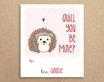hedgehog valentines - Google Search