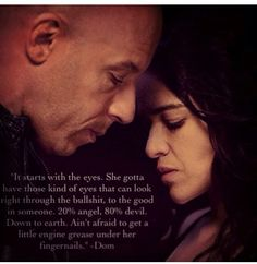 Dominic Toretto and Letty Ortiz from the Fast and the Furious Fast And Furious Letty, The Furious, Sad Quotes, Movie Quotes, Inspirational Quotes, Story Quotes, Random Quotes, Crush Quotes, Motivational Quotes
