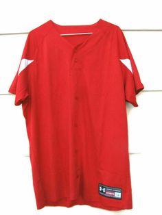 Under Armour Men's Button Up Athletic Baseball Jersey Red Shirt Under Pants, Mens Button Up, Compression Shorts, Baseball Jerseys, Athletic Pants, Under Armour Men, Red Shirt, Jersey Shirt, Mens Tops