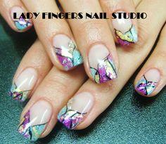 #nail #nails #nailart #nailporn #nailideas #naildesign #trendynails #gelnails #gelpolish #nailpolish #art #gelmanicure #manicure #stainedglass #colours #springnails #summernails #sexynails #goldleaf #gold #handpaintednailart #glitter #bling
