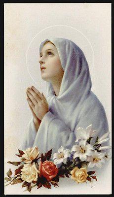 "santino-holy card""""ediz. FB serie G n.11 VERGINE MARIA IN PREGHIERA"