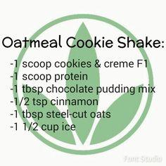 Oatmeal Cookie Shake www.goherbalife.com/kwissner