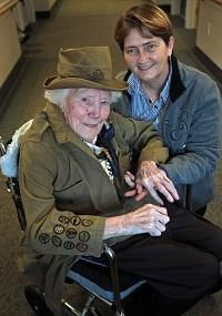 Today's inspiration - the world's oldest Girl Scout shares why she loves her her troops - and her uniform.