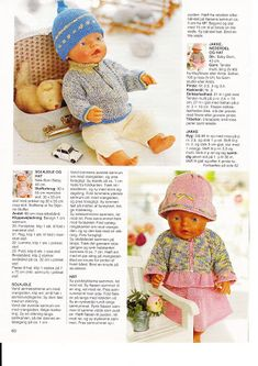 Billede: Knitting Dolls Clothes, Doll Clothes Patterns, Doll Patterns, Quilt Baby, Crochet Dolls, Crochet Baby, Girl Dolls, Barbie Dolls, Baby Born Clothes