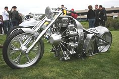 West Coast Choppers radial engined motorcycle.