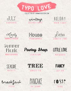 *ann.meer: Lovely Fonts #4 // to use for parties, invitations, weddings, printables, and more.