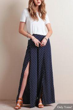 lunar de impresión de cintura alta Culottes - US$13.95 -YOINS