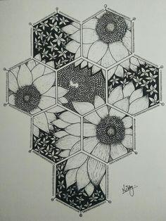 Sharpie Drawings, Cool Art Drawings, Pencil Art Drawings, Art Drawings Sketches, Stippling Drawing, Bee Drawing, Cityscape Drawing, Trill Art, Mandala Art Lesson