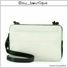"""♠2xHP French Connection Crossbody Triple Zip Ideal For The Girl On The Go, Faux Leather With Statement Hardware, A Trio Of Zip-Top Compartments Keeps Essentials Organized.Crossbody Strap With 49""""Drop. Top Zip Closure.Statement Hardware At Straps.Interior Features Zip Pocket And Slip Pocket.11""""wx7-1/2""""hx4""""d _Night Out Party 1/23_ _Cool Girl Style Party 2/4_ French Connection Bags Crossbody Bags"""