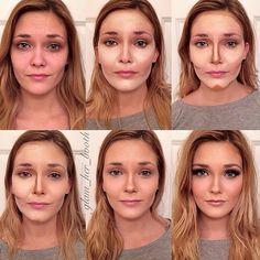 """""""Face Contouring"""", tendencias de belleza. Mira estas transformaciones paso a paso, ¡Impresionantes! con @timeforfashion #MakeUp #Maquillaje #TrucosBelleza"""