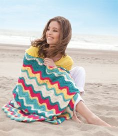 just love this blanket and the wavy pattern... may just have to make one or two!
